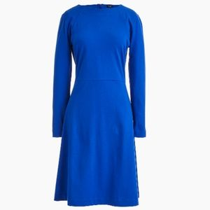 J.Crew 365 knit fit-and-flare dress M Blue